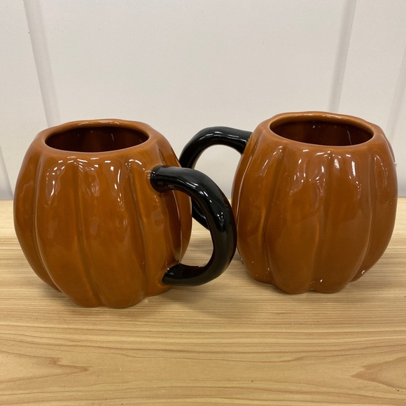 THRESHOLD Pumpkin Fall Orange Mugs Set NWT